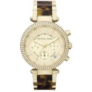 Michael Kors Women's Parker Tortoise Glitz Watch